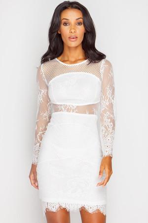 Allyson White Lace Bodycon Dress