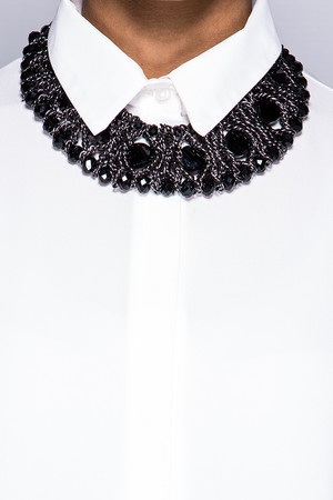 Amy Black Jewelled Chain Necklace