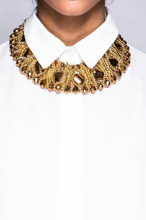Amy Gold Jewelled Chain Necklace