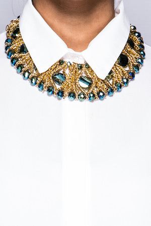 Amy Turquoise Jewelled Chain Necklace