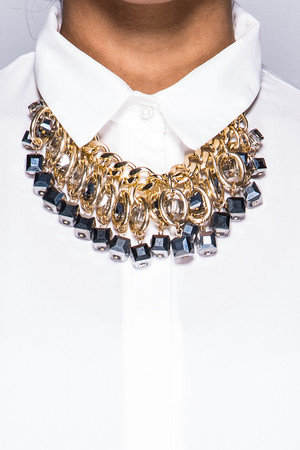 Camilla Silver Jewelled Necklace