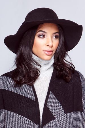 Carmel Black Bow Fedora Hat