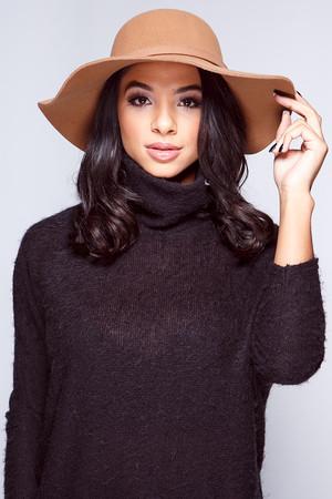 Carmel Camel Bow Fedora Hat
