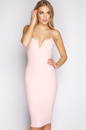 Harper Pink Bandage Midi Dress