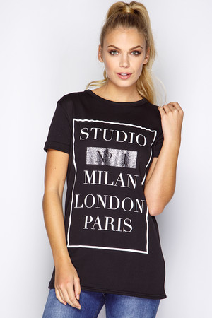 Jenny Black Studio No1 Slogan T-Shirt