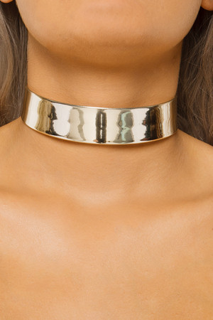 Monica Gold Metallic Choker