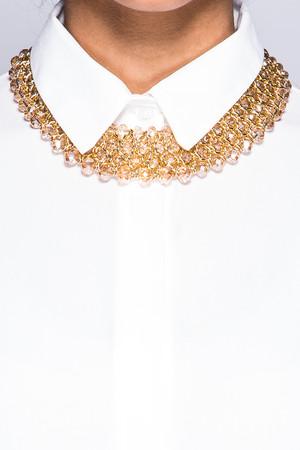 Samantha Gold Jewelled Necklace