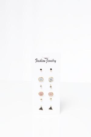 Suri Multicoloured Stud Earring Set