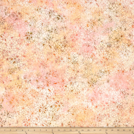 106'' Wide Wilmington Batik Quilt Back Crackle Pink/Orange Fabric By The Yard
