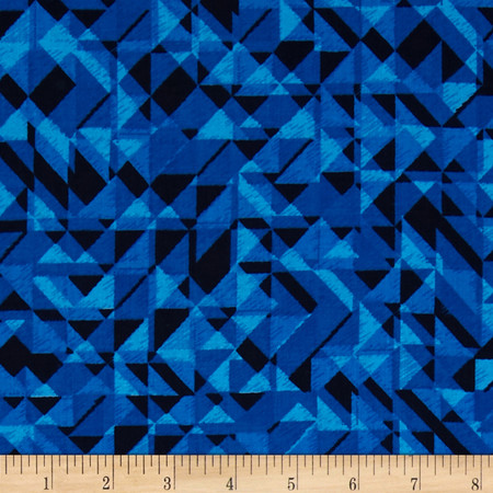 108 In. Quilt Wide Back Prisms Blue Fabric By The Yard