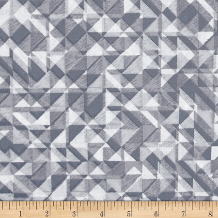 108 In. Quilt Wide Back Prisms Grey Fabric By The Yard