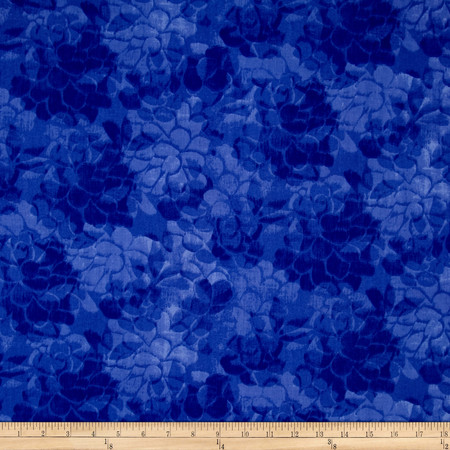 108'' Wide Charisse Quilt Back Tonal Floral Blue Fabric By The Yard