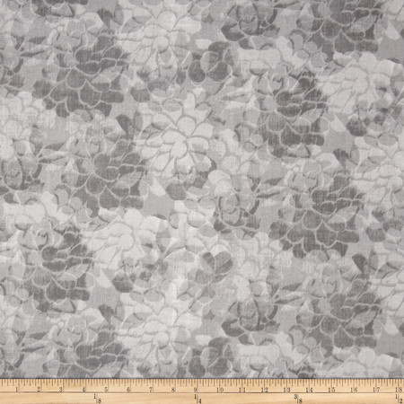 108'' Wide Charisse Quilt Back Tonal Floral Grey Fabric By The Yard