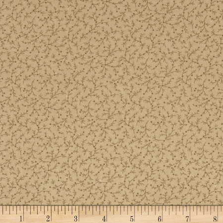 108'' Wide Quilt Back Emma Vine Beige Fabric By The Yard