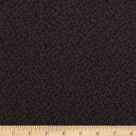 108'' Wide Quilt Back Emma Vine Black Fabric