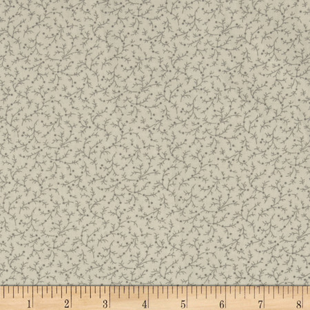 108'' Wide Quilt Back Emma Vine Off White Fabric By The Yard
