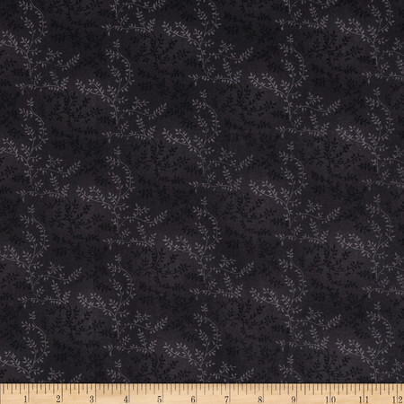 108'' Wide Quilt Back Tonal Vineyard Black Fabric