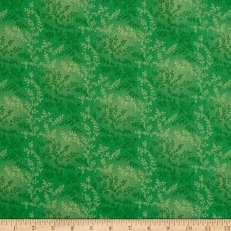 108'' Wide Quilt Back Tonal Vineyard Green Fabric