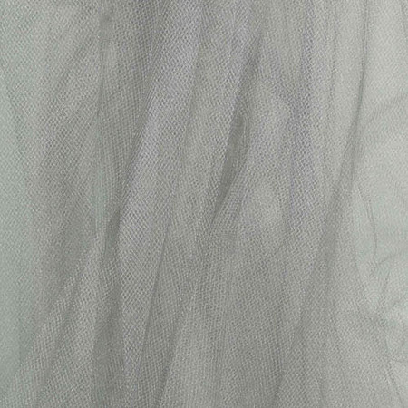 108'' Wide Tulle Glimmer Silver Fabric By The Yard
