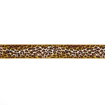 1-1/2'' Anna Maria Horner Ombre Leopard Ribbon Brown/Gold