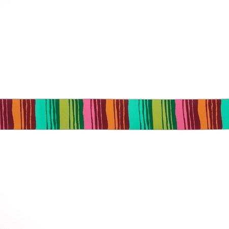 1-1/2'' Kaffe Fassett Phase Stripes Ribbon Green/Orange