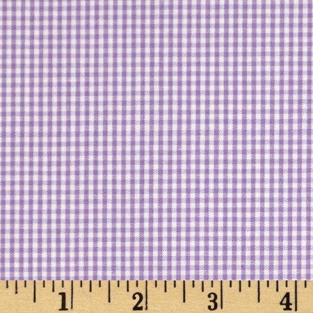 Wide Width 1/16 in.Gingham Check Purple Fabric By The Yard