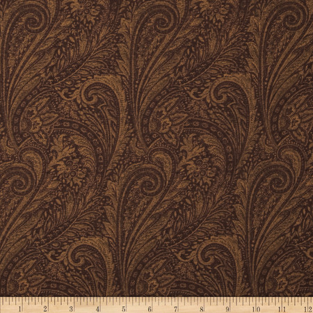 118'' Wide Lauren Paisley Brown Fabric By The Yard