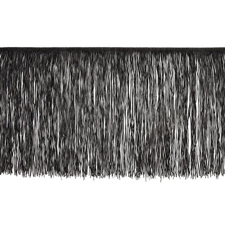 12'' Chainette Fringe Trim Black