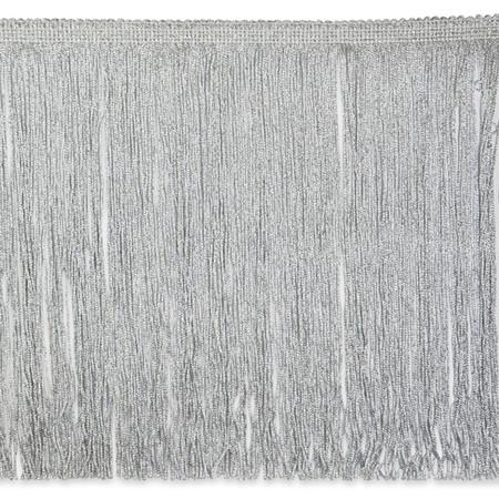 12'' Metallic Chainette Fringe Silver