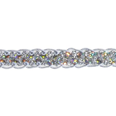 1/2'' Sequin Braid Cord Trim Silver