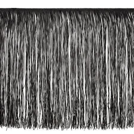 18'' Chainette Fringe Trim Black