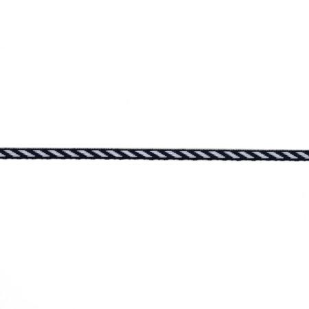 1/8'' Grosgrain Ribbon Diagonal Stripe Navy