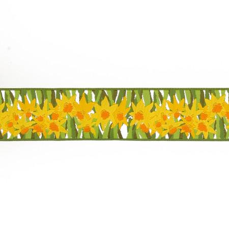 1 1/2''Laura Foster Nicholson Daffodils Yellow & Green