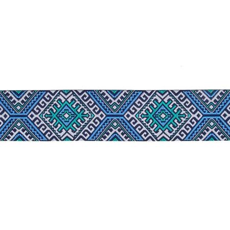 1 1/2'' Amy Butler Blanket Blue/Camel