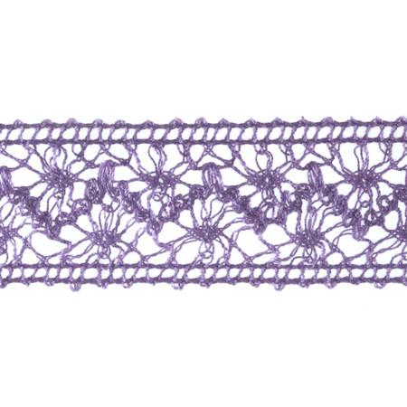 1 1/2'' Crochet Ribbon Lavender