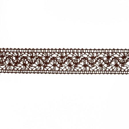 1 1/2'' Crochet Trim Brown