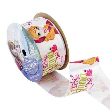 1 1/2'' Frozen Ribbon Anna White 3YD Spool