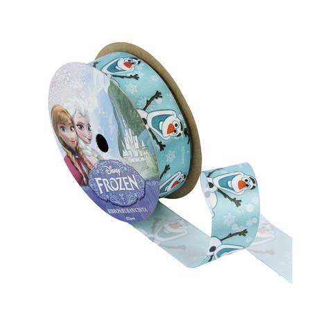 1 1/2'' Frozen Ribbon Olaf Name Blue 3YD Spool