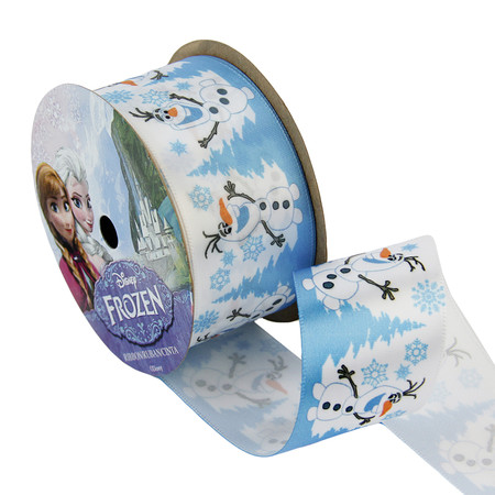 1 1/2'' Frozen Ribbon Olaf Snowy White 3YD Spool