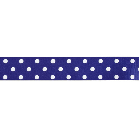 1 1/2'' Grosgrain Polka Dot Ribbon Royal Blue