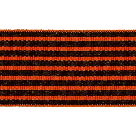 1 1/2'' Grosgrain Stripes Orange/Black