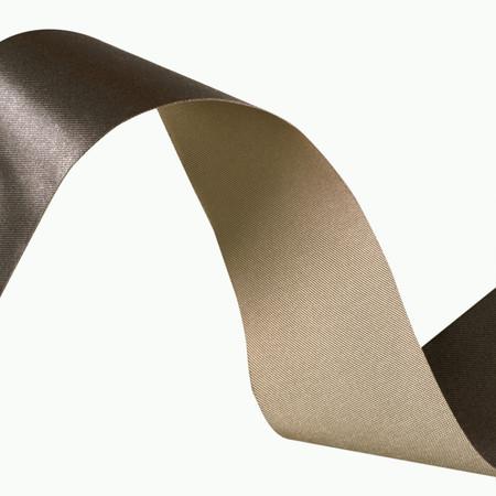 1 1/2'' Iridescent Satin Ribbon Brown/Taupe