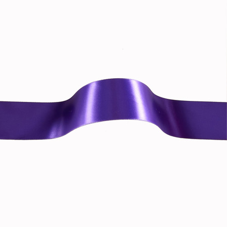 1 1/2'' Offray Single Face Satin Ribbon Purple