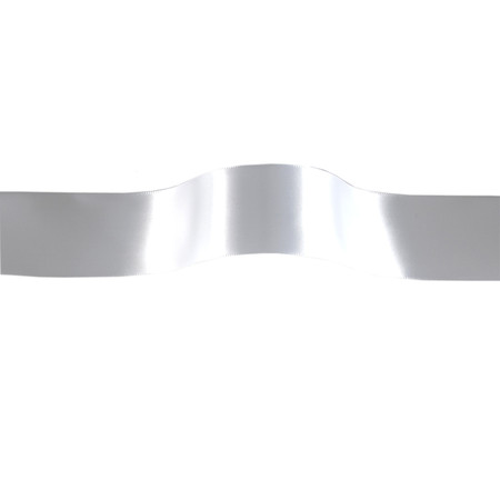 1 1/2'' Offray Single Face Satin Ribbon White