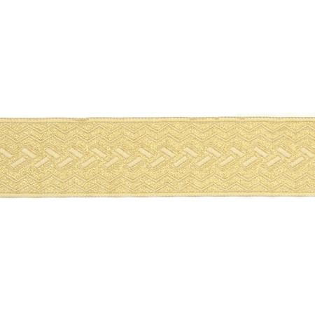 1 1/2'' Woven Home Decor Geometric Trim Gold