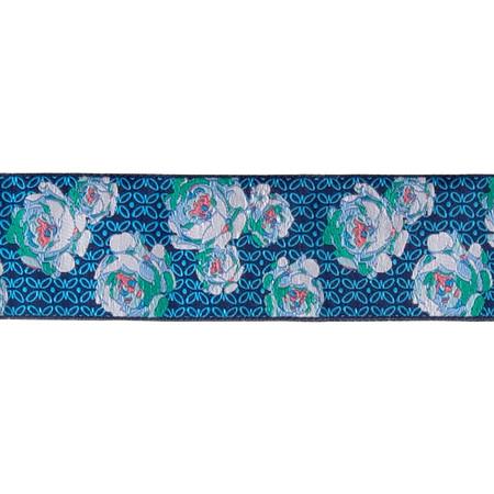 1 7/8'' Amy Butler Roses Blue & White on Blue