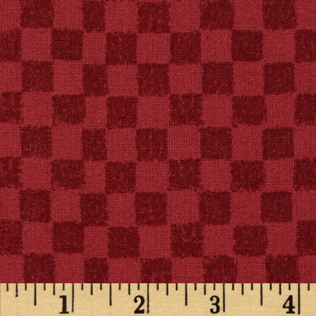 25 Days Til Christmas Checkerboard Red Fabric