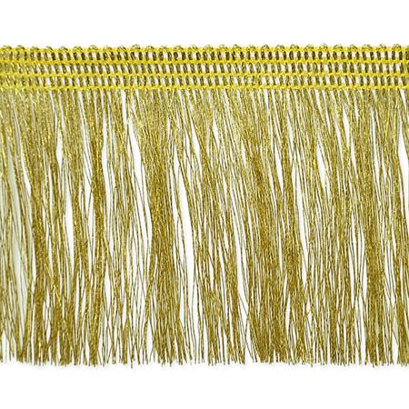 2 1/4'' Etta Metallic Fringe Gold