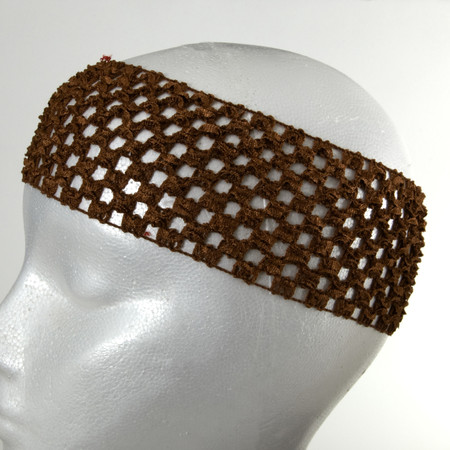 2 3/4'' Crochet Headband Brown