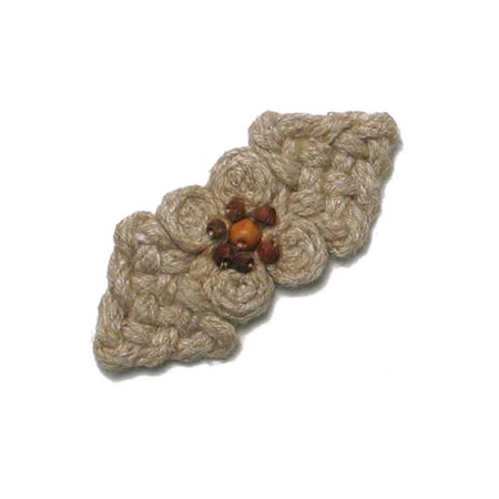 2 3/4 x 1 3/16'' Woven Cluster Closure Natural